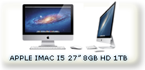 "IMAC INTEL I5 27"" 8GB RAM HD 1TB"
