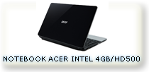 NOTEBOOK ACER INTEL HD 500 GB DDR3 4GB