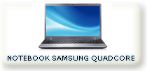 "NOTEBOOK SAMSUNG QUADCORE 15.6"" HDMI HD750GB RAM 4GB"
