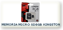 MEMORIA KINGSTON MICRO SD 8GB BLISTRE SELLADO
